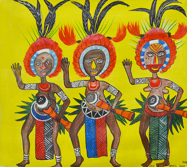 James Kela // 'Untitled; Three Dancers' // 46x50cm // 2016 // $250 or $400 stretched SOLD