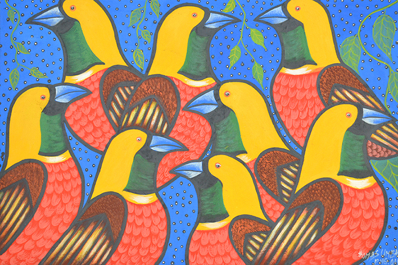 Thomas Umba // 'Untitled; Yellow Birds' // 69x104cm // 2016 // $450