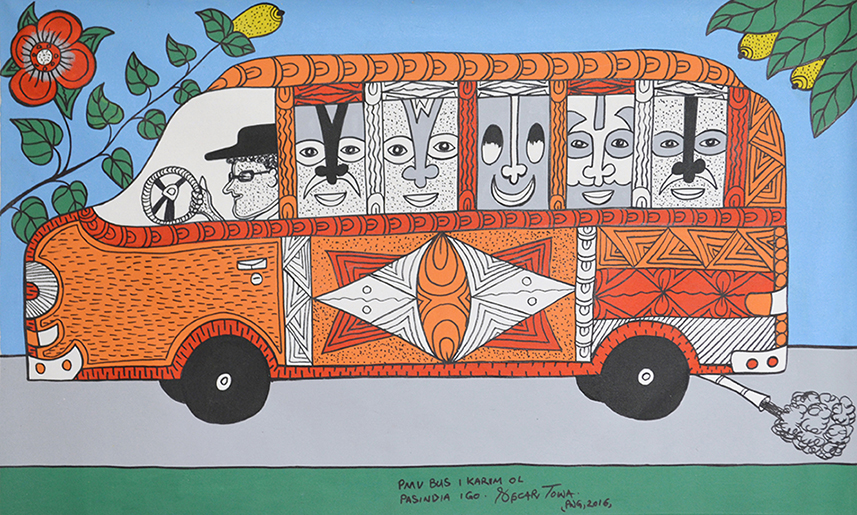 Oscar Towa // 'Untitled; Bus' // 55x92cm // 2016 // $450 or $600 stretched