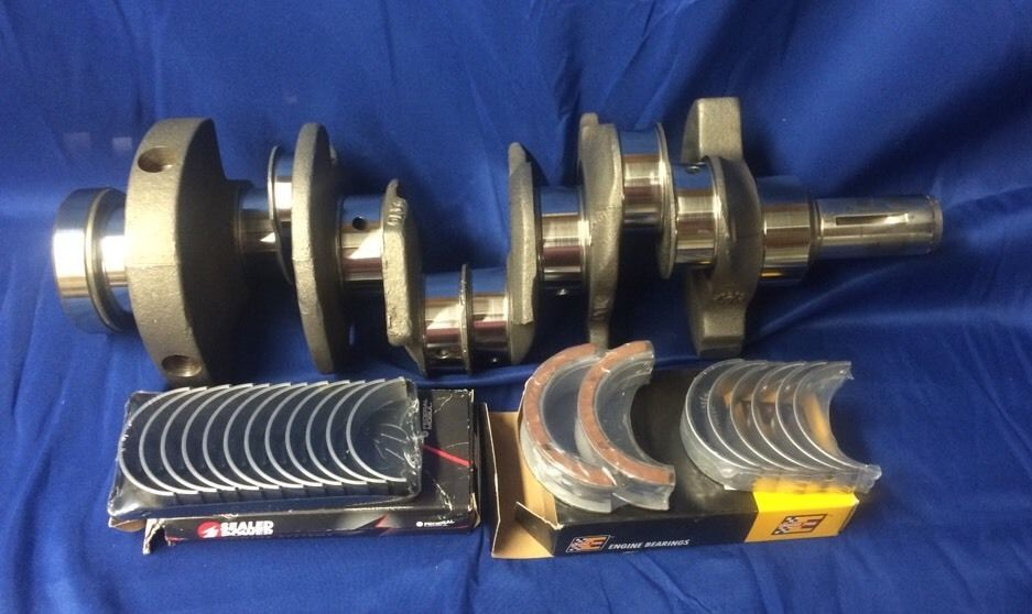 Crankshaft Grinding - Crankshafts are inspected and straightened if necessary. Crankshaft main and rod journals are then ground and polished as necessary for undersize bearings.