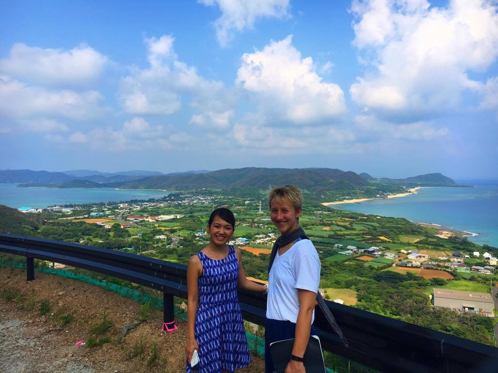 I know. It's too gorgeous, it almost makes me sick. On the upside, the island is totally full of poisonous snakes whose bites make your flesh melt. So there's that. Chihiro and I on the island Amami Oshima (photo by Yuuji).