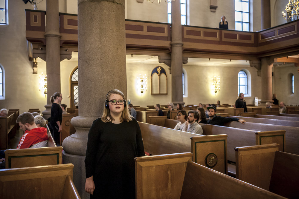 Winter Choir: Grønland kirke . With Kvindelige Studenters Sangforening. Photo by Vegard Kleven.