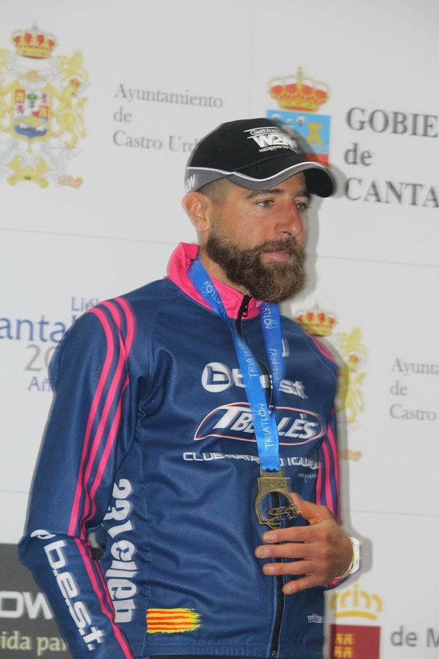 Podio Campeon triatlon españa