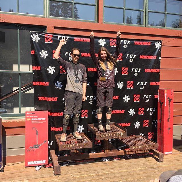 @syyyraa on podium at Northstar Downhill. #bestforbikers #bestriders #northstardownhill #downhillmtb