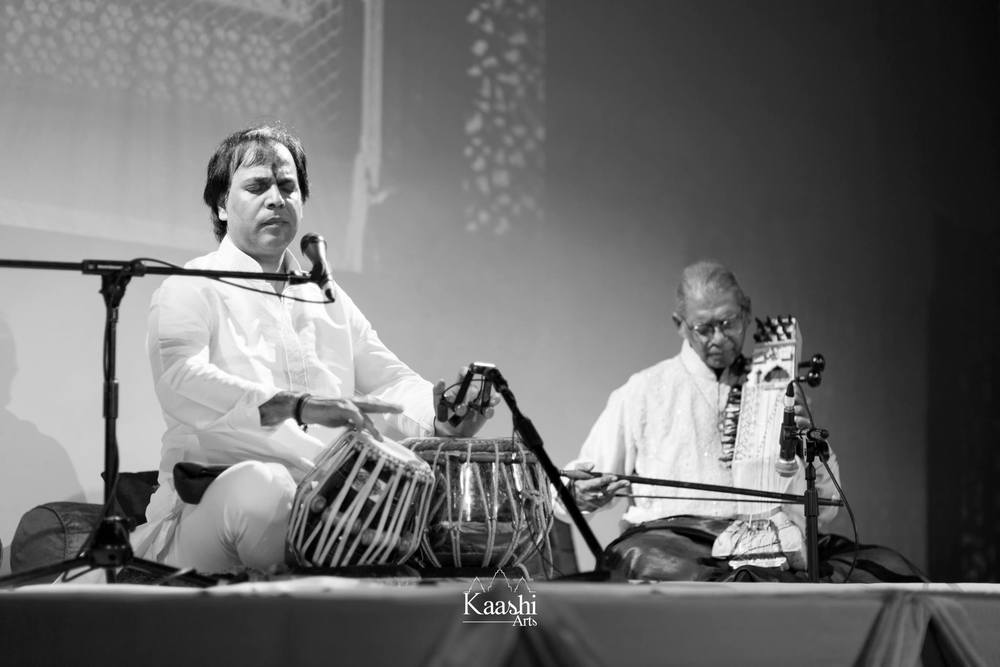 Shradhanjali 2015 - Pandit Sanju Sahai ji & Pandit Ramesh Mishra ji at the Tabernacle, London.