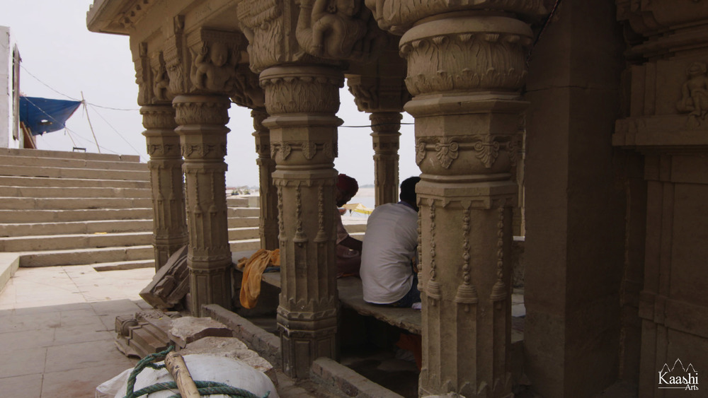 "The ""Sinking Temple"" Benares, India."