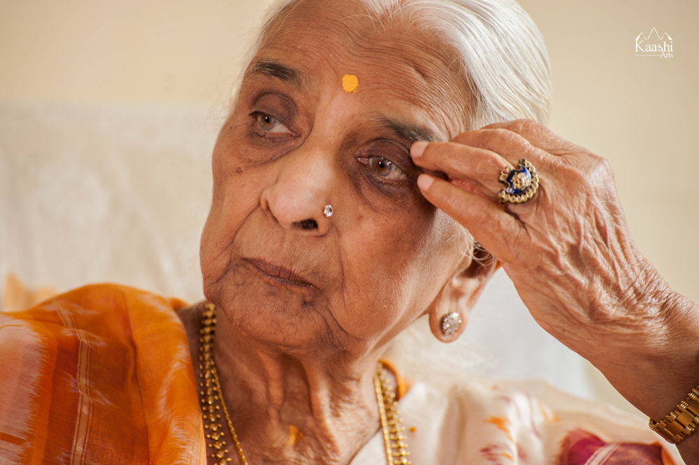 Smt. Girija Devi ji   | Banks of the River Ganges, Varanasi, India | April 2017  Padma Vibhushan Smt. Girija Devi ji - A goddess, one of India's most precious jewels & the most interesting personality.  Kaashi Arts had the distinct pleasure of spending time at the home of Girija Devi ji, understanding her journey in music for a career which spans over 70 years. An incredible path she has so elegantly walked.  Towards the end of our time, Kaashi Arts together with its dedicated team in India curated a concert with her on the banks of the sacred river Ganges. An epic event in the most divine location to over one thousand audience members throughout the night.