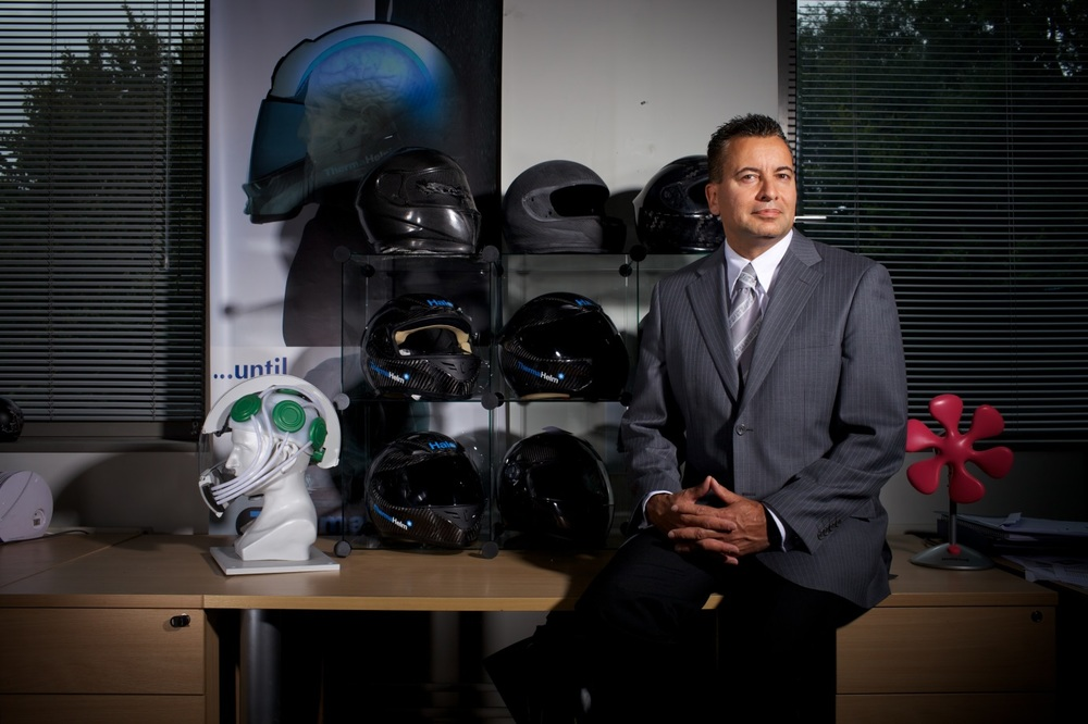 Jullian Preston-Powers, inventor of the Halo Helmet