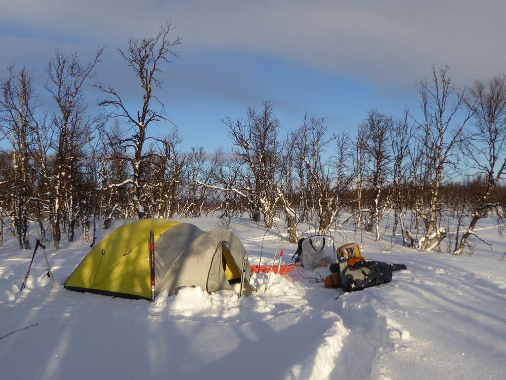 Fin teltplass ved Hersjømyrin