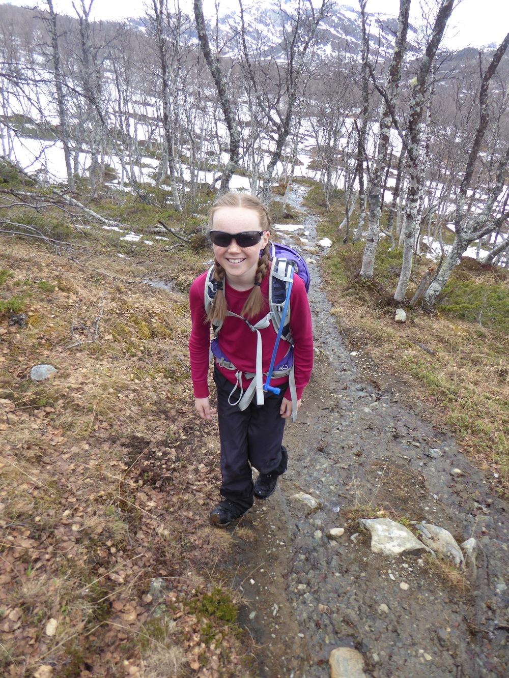 All snøen er ikke borte på vei opp mot Sikkilsdalshøa