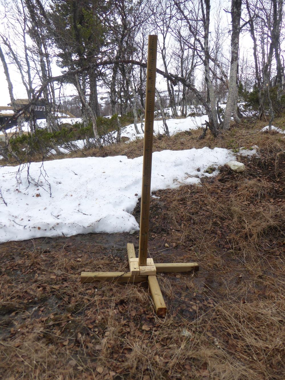 Den 6. mai forsvant snøen helt ved hytta