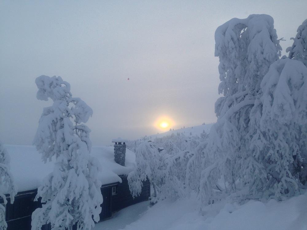 I januar var det mye snø