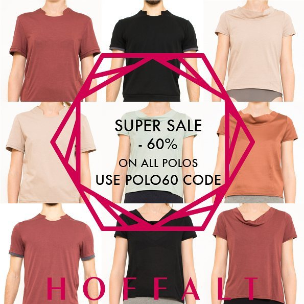 Super Sale! Go HOFFALT.com Use POLO60 promo code. Sordide shipping 🌍.