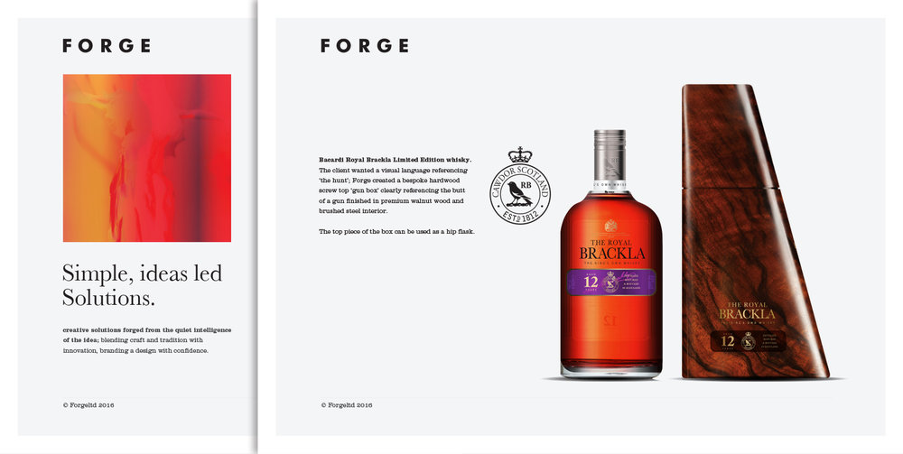 Client :  Forge  Brief : Identity Role : Art Direction, Copywriting