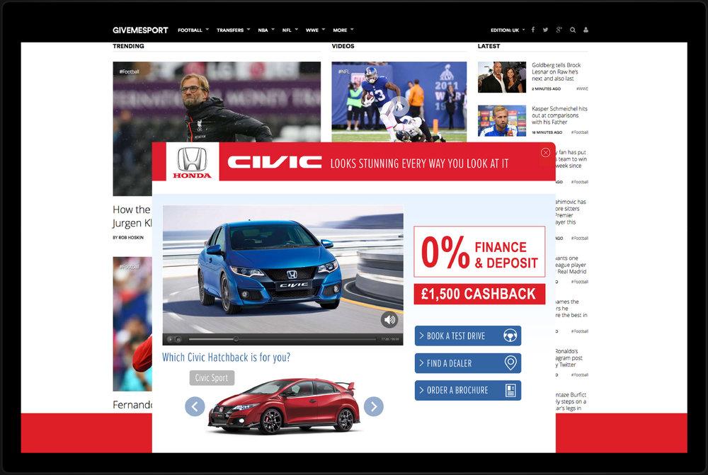 Client :  Honda  Brief : Desktop Rise Role : Concept And Design