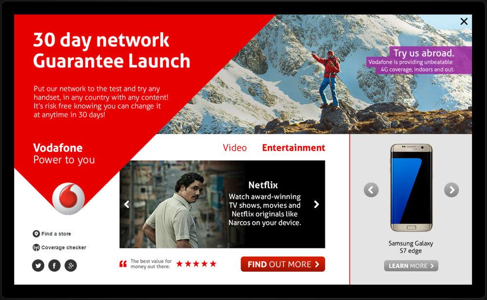 Client :  Vodafone  Brief : Desktop HIT Role : Concept And Design