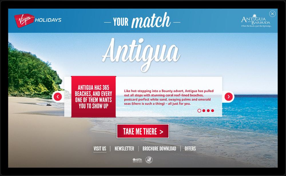 Client :  Virgin Holidays  Brief : Desktop HIT Role : Concept And Design