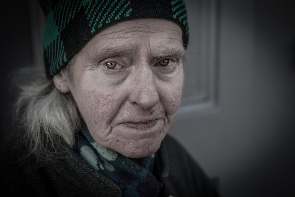 "Bernadette was doing her meals and wheels rounds when I met her on Shandon street.  At first I didn't realise she was actually organising the feeding of the old and infirm as she seemed quite elderly herself, but she was spending her Sunday, like all sundays, looking after the elderly in her area and making sure they were all fed.   ""Old people are the best craic sure' she called out as she moved on."