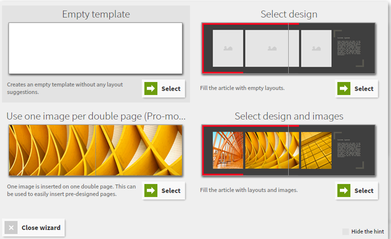 Again, you can see the flexibility of options when it comes to your layout,