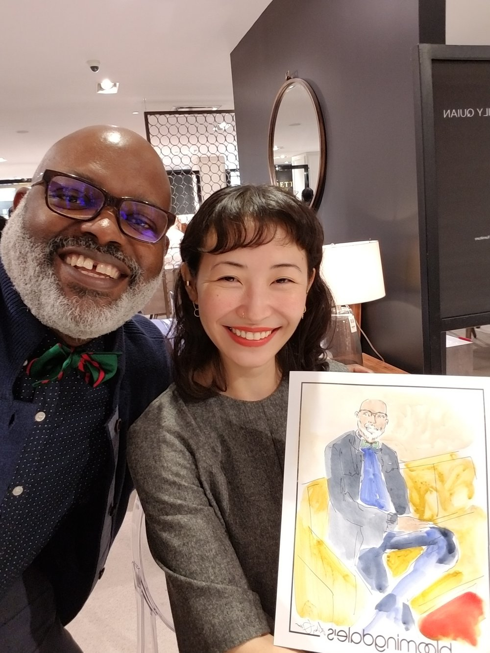 Me with the talented illustrator Lily Quian