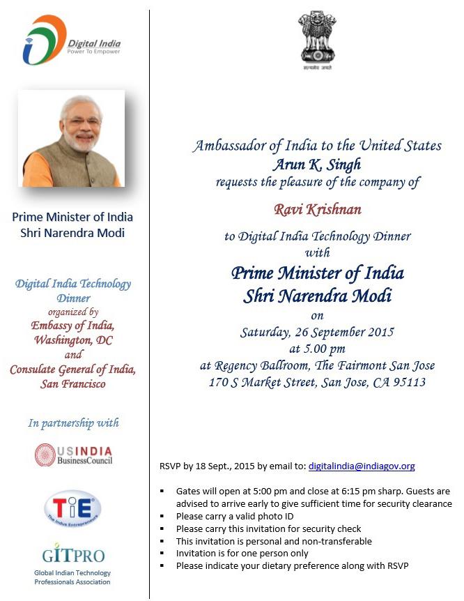 Narendra Modi, Krishnan & Associates, K&A, Ravi Krishnan, USIBC
