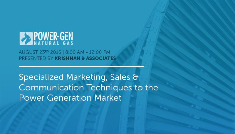 Power Gen, POWER-GEN Natural Gas, Pre-Conference Workshop, Krishnan & Associates, Ravi Krishnan