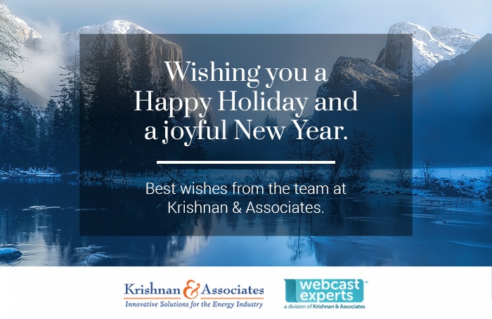Krishnan & Associates, Consulting Firm, Energy Industry, Happy Holidays