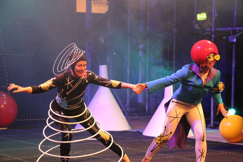 Flying Atoms performing at Edinburgh Fringe Festival 2017