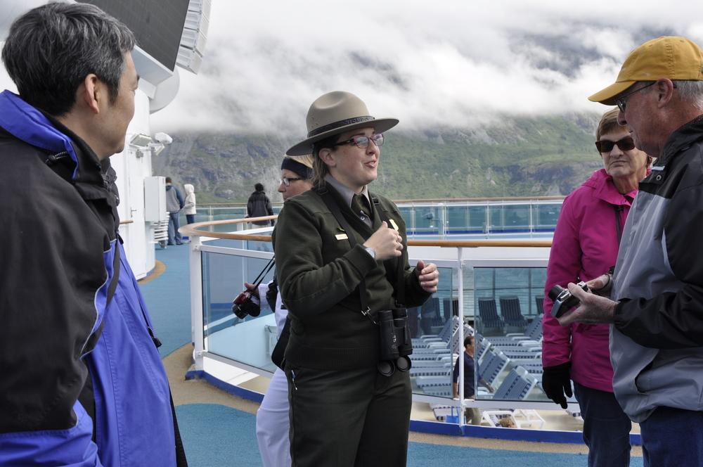 Natur Park ranger i aksjon på cruiseskip
