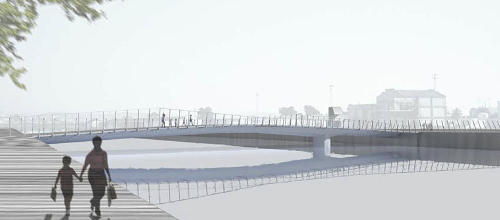Urban Bridge over the Guadalete River