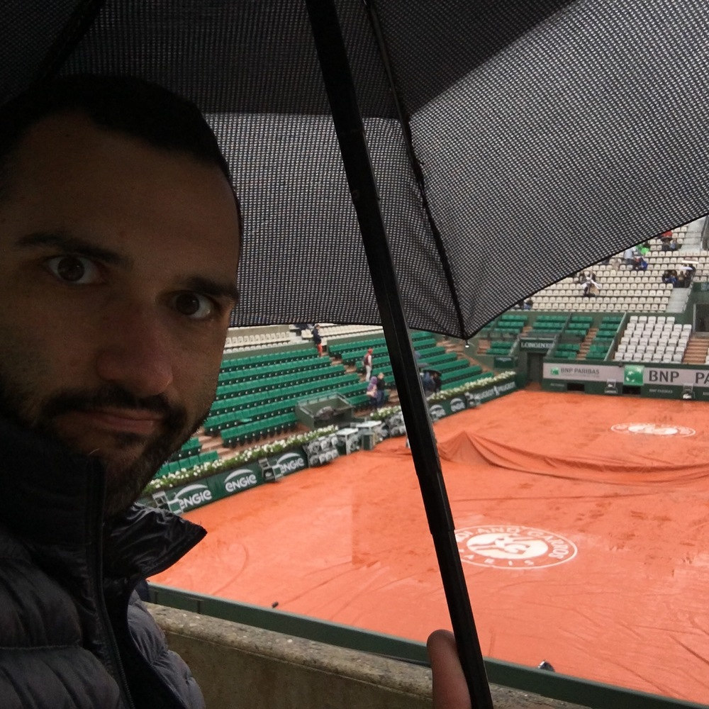 How I spent much of my first day at Roland Garros.