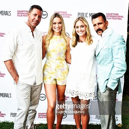 Can't I wear white after #labordayweekend? #tbt to when this fun #tvshow screened in the #hamptons @hamptonsfilm with @katrinakbowden @edburns @wassstevens