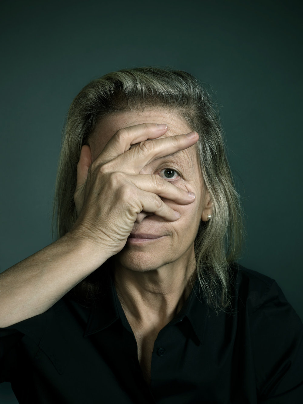 An image by Seattle-based photographer  John Keatley  of Annie Leibovitz.   Photograph by John Keatley