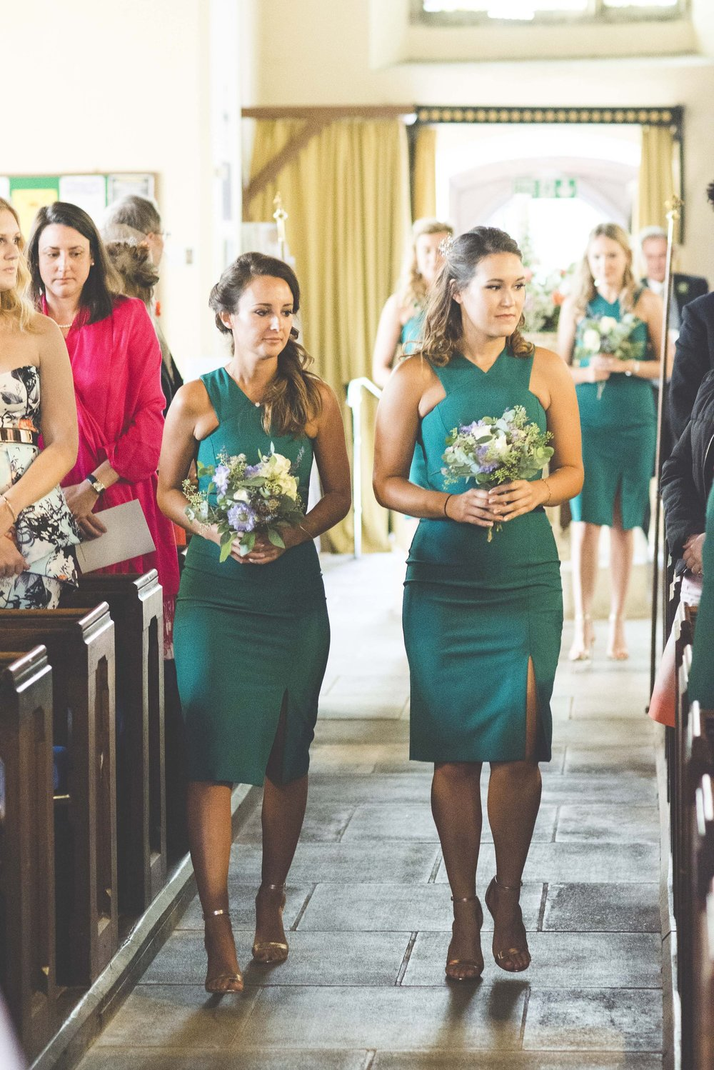 Flowers by Jennifer Pinder green turquoise bridesmaids Kent London wedding florist.jpg
