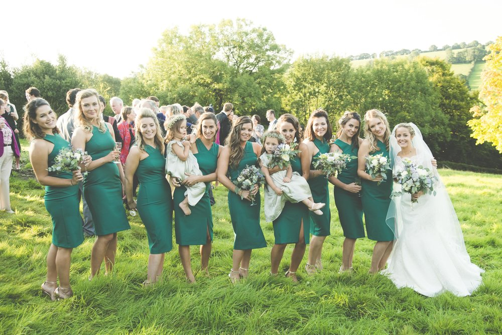 Flowers by Jennifer Pinder. Wedding Florist London Kent turquoise bridesmaids.jpg