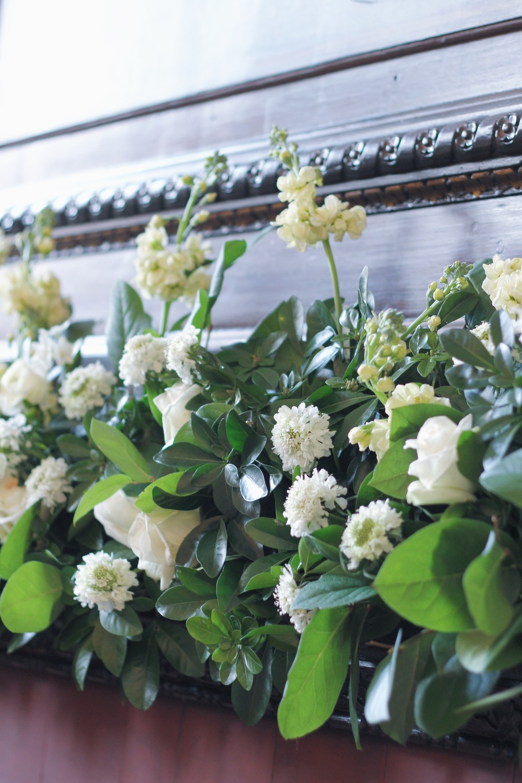 mantel arrangement at Fulham Palace by Jennifer Pinder