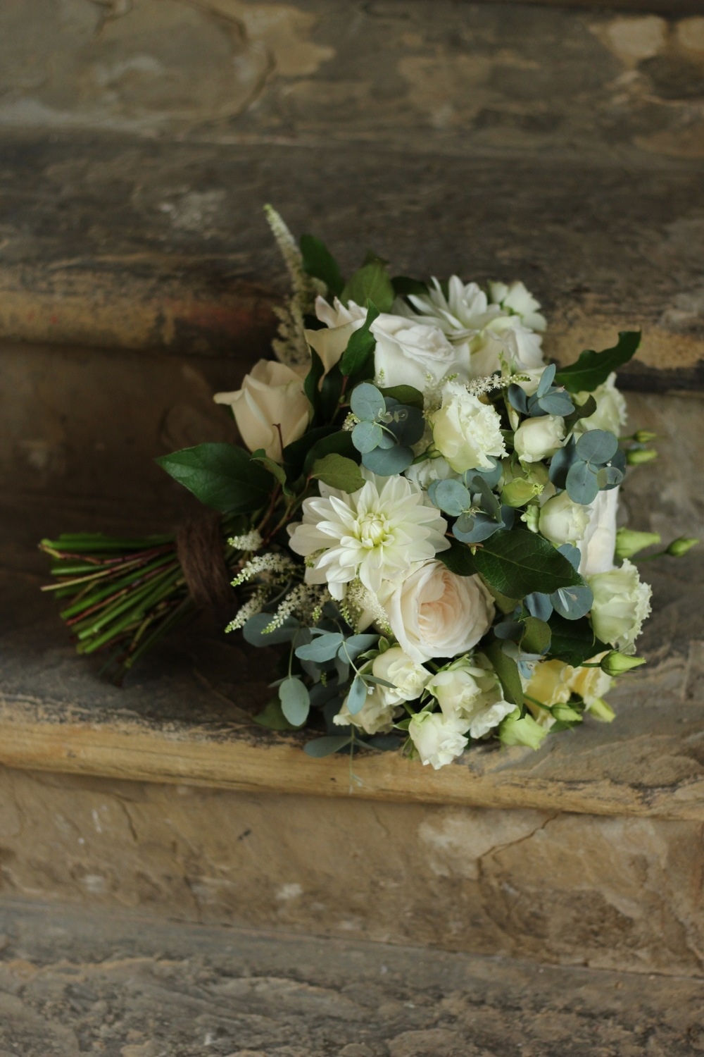 Flowers by Kent florist Jennifer Pinder at the Asylum wedding venue in Peckham, London