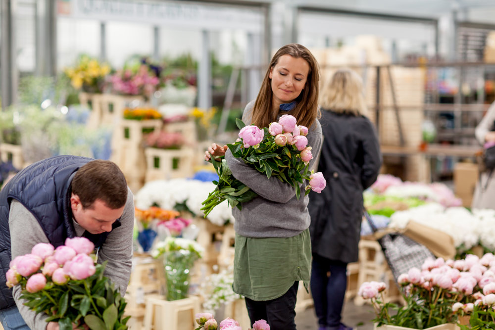 Jennifer Pinder Floral Styling at the flower market