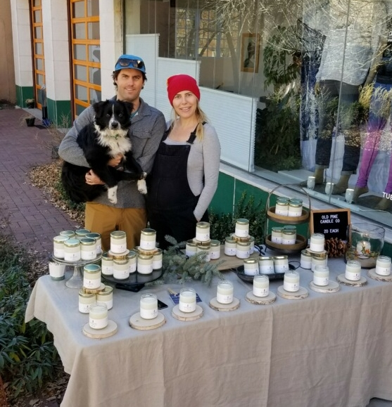Danielle, Ryan and Oscar of Old Pine Candle Co.