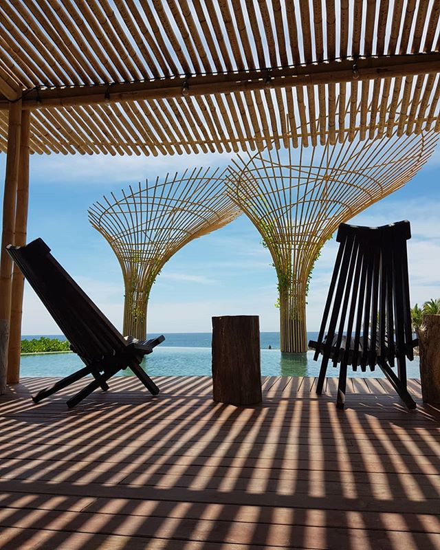 Punta Majahua's Pool and Bamboo pergola!