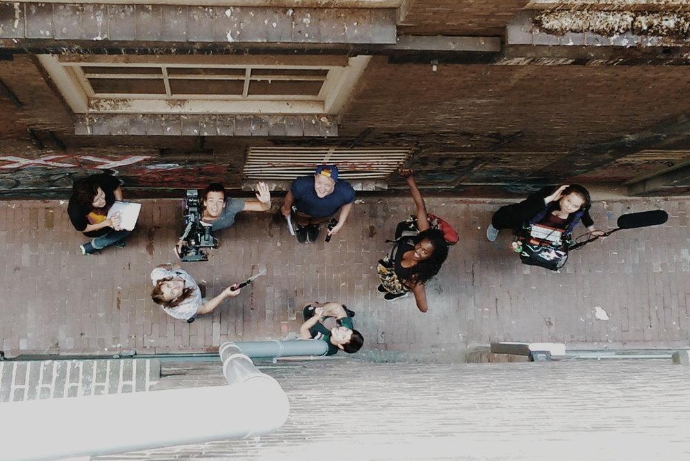 vlnr: Toby Chlosta, Soraye Verbeke, Sanne van Rossum, ik, Iris Vlutters, Stacyian Jackson en Leleane Lindenaar