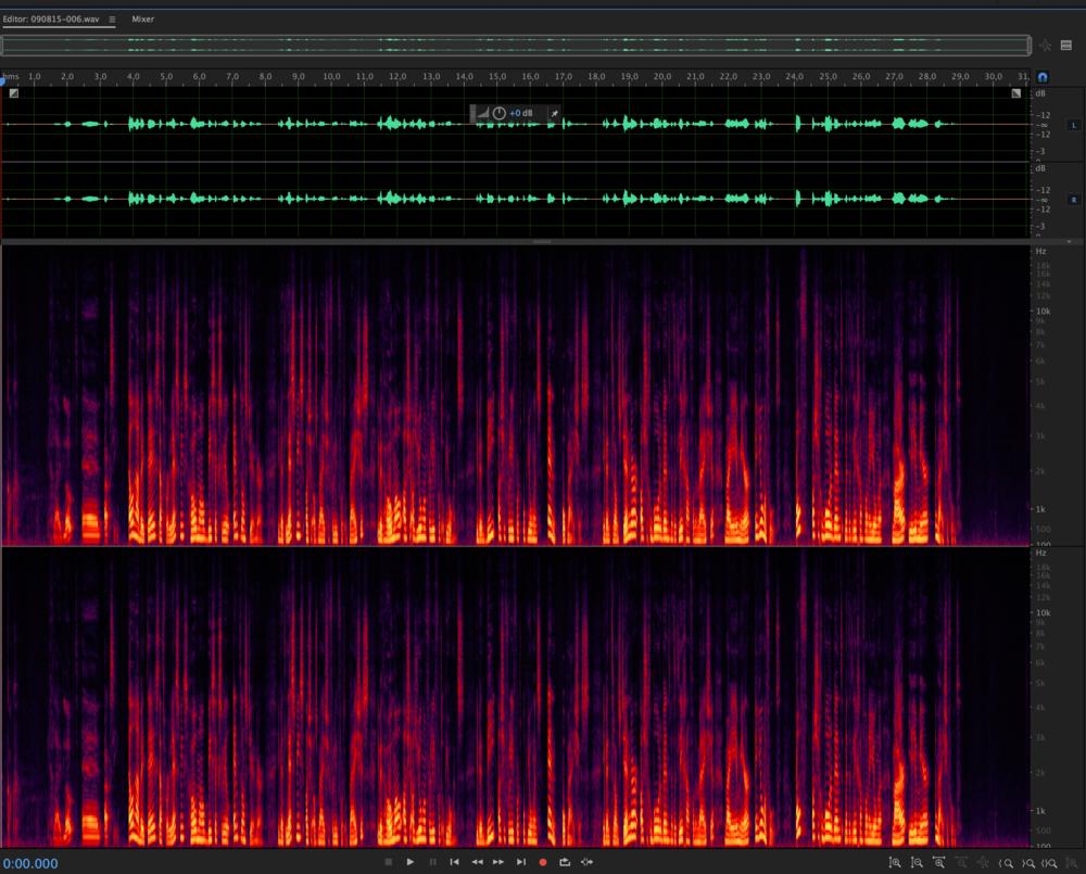 De daadwerkelijke voice-over, die zie je hierboven.
