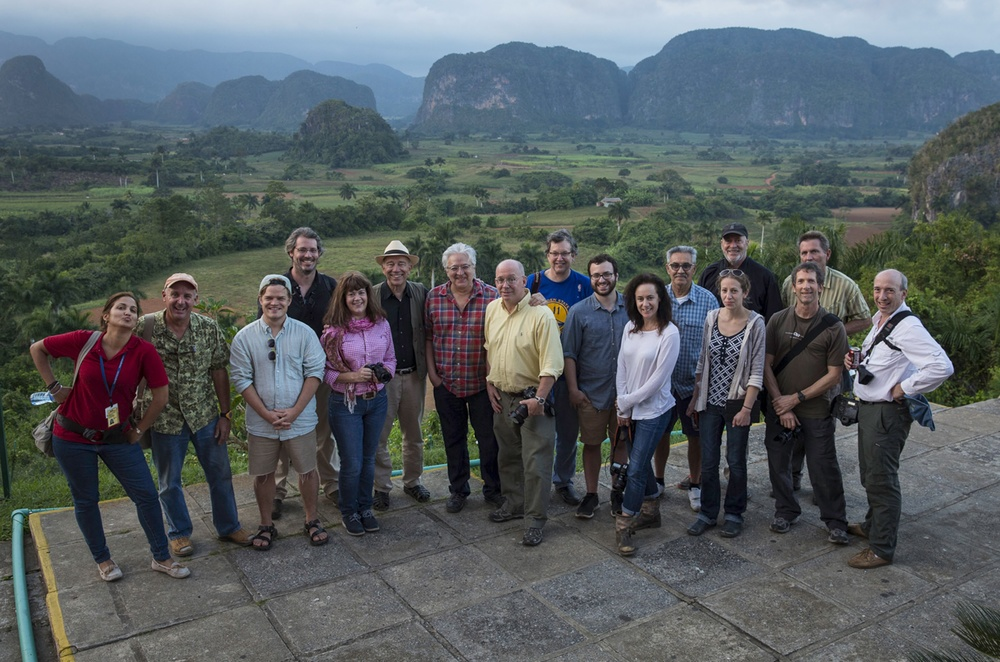 The U.S. crew overlooking the beautiful Viñales valley.