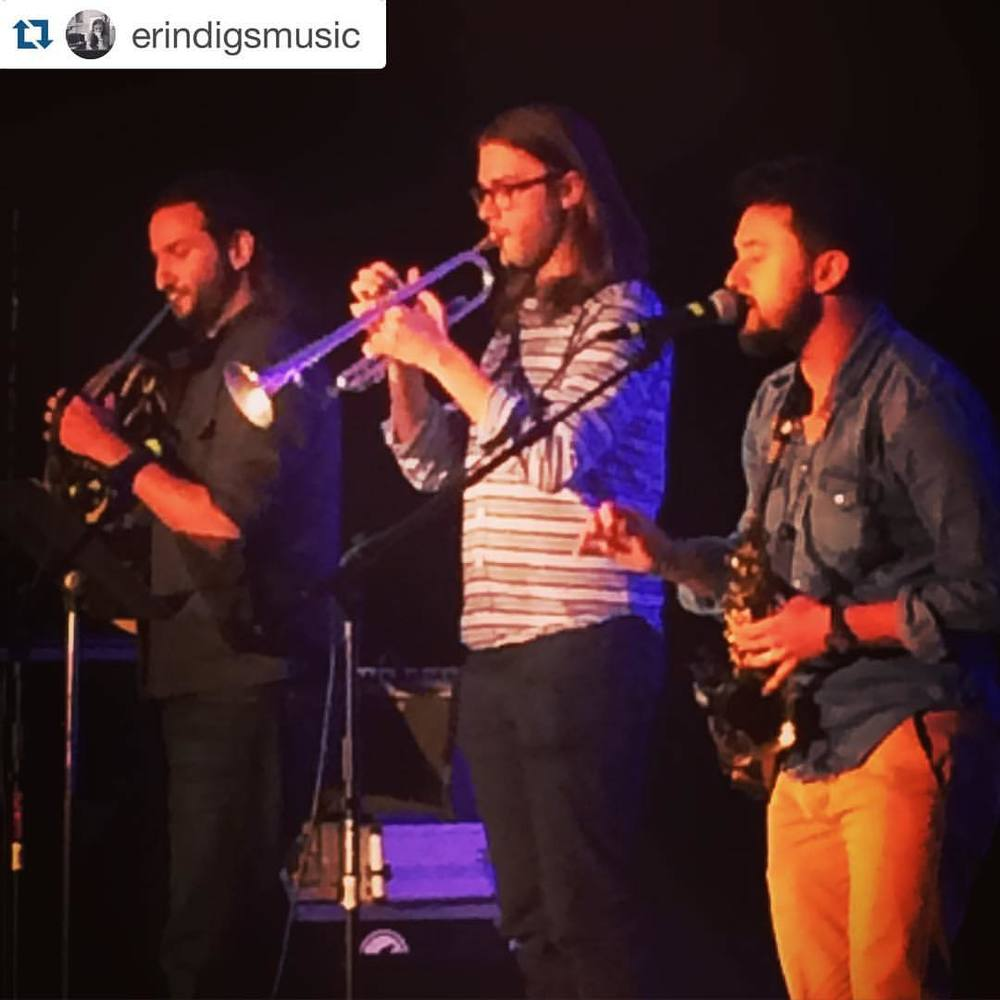#Repost @erindigsmusic  ・・・  Horns are the new guitars @marcplotkin #apcane15