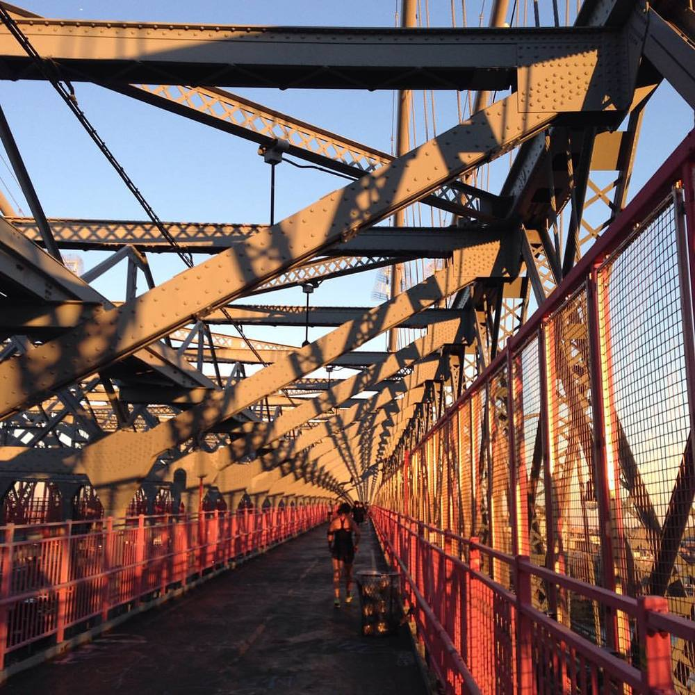 Light!    #sunset  (at Williamsburg Bridge)