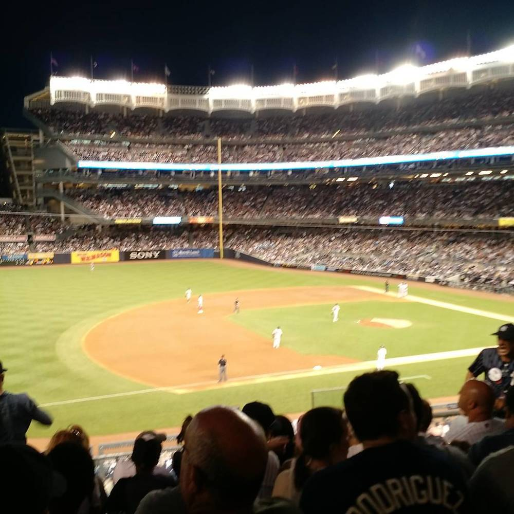 I don't know what's happening, but it's delicious. (at Yankees Vs Red Sox)