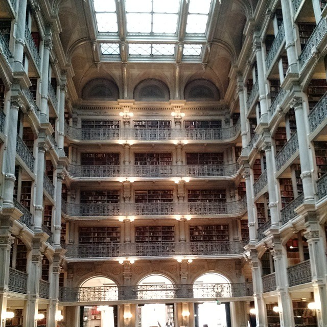 Beautiful Peabody Library (at Peabody Conservatory)