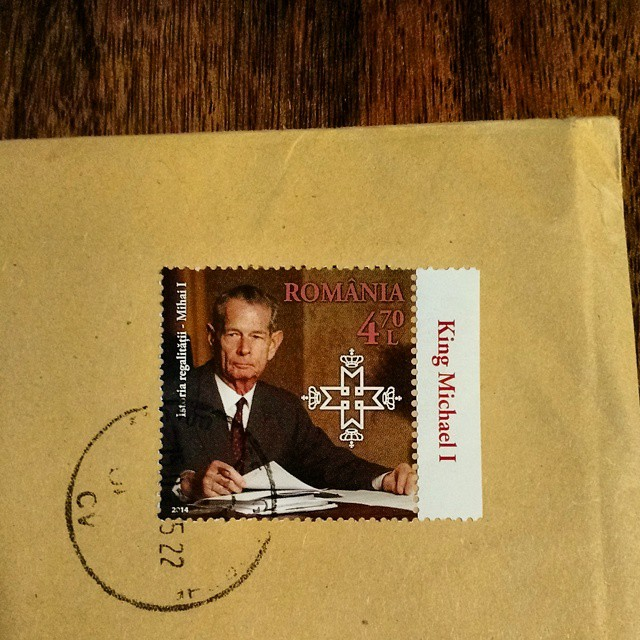 Got a letter from Romania. Their stamps are way cooler than ours.