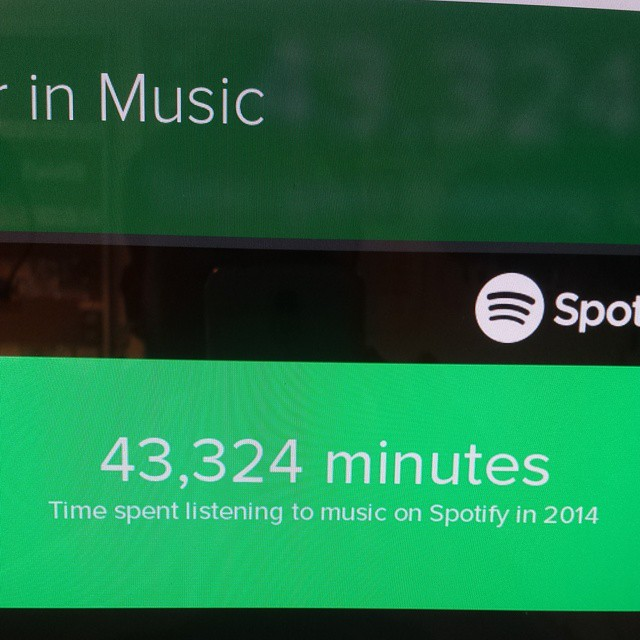 "Spotify's ""Your Year in Music"" analytics are awesome."