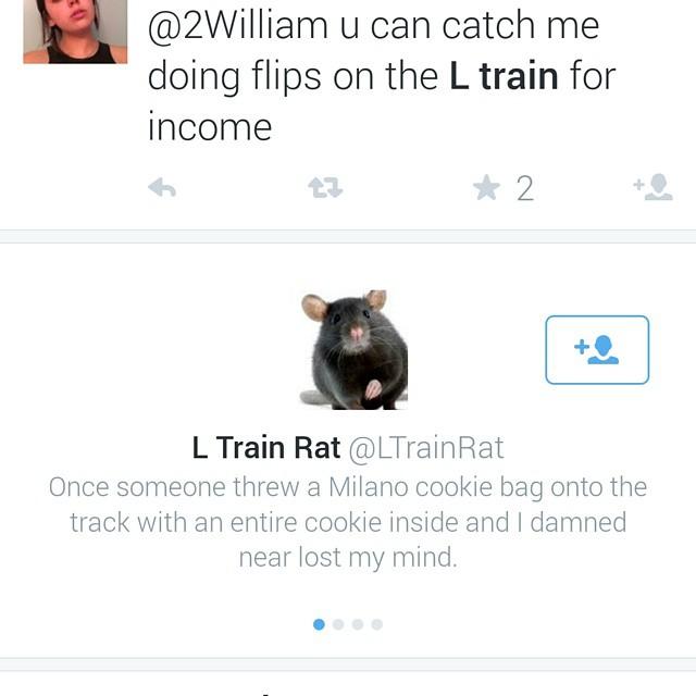 The L Train Rat seems pretty cool